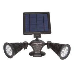 LAMPARA LED SOLAR FOCOS X 2